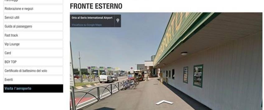 Aeroporto Orio Al Serio Visita Virtuale Con Google Street View