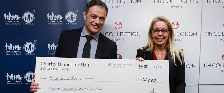 NH Collection Milano President, charity dinner per i bambini di Haiti